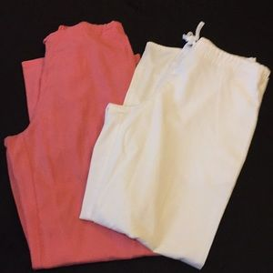Pants - SB Scrubs brand scrub pants white(SP) and pink(S)